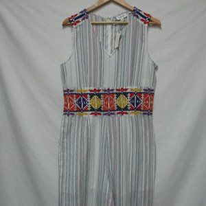 Anthropologie LAIA embroidered Jumpsuit NEW M Md